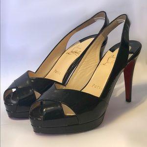 NEW Patent Leather Christian Louboutin 'Soso' Heel
